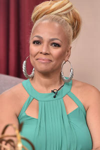 Kim Fields on the set of Hallmark's