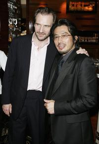 Ralph Fiennes and Hiroyuki Sanada at the after show party following the UK Premiere of