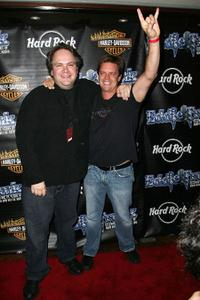 Eddie Trunk and Jim Breuer at the celebration honoring 25th Anniversary in radio broadcasting.