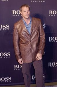 Jason Lewis at the celebration of new Hugo Boss store.