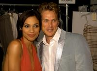 Rosario Dawson and Jason Lewis at the BCBG Max Azria Spring 2006 fashion show during the Olympus Fashion week.