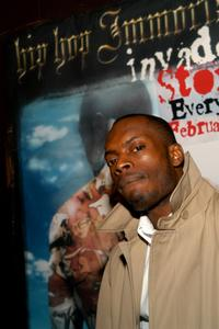 Bonz Malone at the premiere of