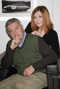 Antonio Catania and Marina Massironi at the press conference in Italy.