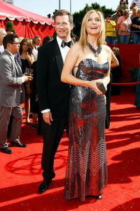 Elizabeth Mitchell and Guest at the 60th Primetime Emmy Awards.