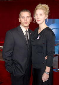 Barry Pepper and wife Cindy at the 53rd Annual Primetime Emmy Awards.