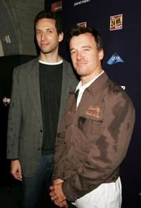 John G. Connolly and Ben Shenkman at the after party of the 24 Hour Plays benefit.