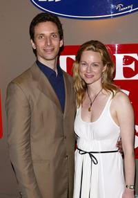 Laura Linney and Ben Shenkman at the after party of