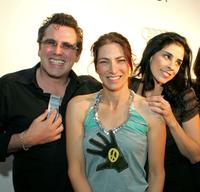 Randy Sosin, Laura Silverman and Sarah Silverman at the special screening of