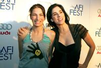 Laura Silverman and Sarah Silverman at the special screening of