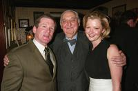 Anthony Heald, Fyvush Finkel and Grethcen Mol at the FOX 2002 Upfronts.
