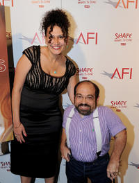 Director Rachel Goldberg and Danny Woodburn at the AFI Directing Workshop For Women 2011 Showcase in California.