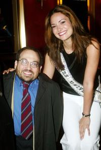 Danny Woodburn and Miss Universe Denise Quinones at the premiere of
