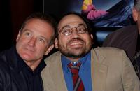 Robin Williams and Danny Woodburn at the premiere of