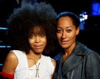 Erykah Badu and Tracee Ellis Ross at the 2003 Essence Festival.