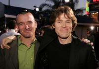 John G. Connolly and Willem Dafoe at the premiere of