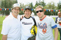 Allen Covert, director Dennis Dugan and co-producer/writer Nick Swardson at the California pre-premiere softball game of