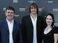 Douglas MacKinnon, Niall Fulton and Laura Fraser at the opening premiere of