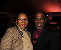 Larcenia Freeman and Alfonso Freeman at the Hollywood Reporter's Oscar Nominee Dinner.