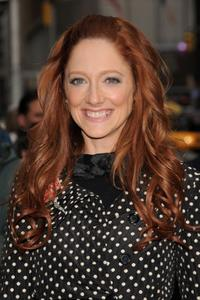 Judy Greer at the taping of the Late Show with David Letterman.