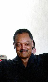 Jesse Jackson at the adult literacy centre.