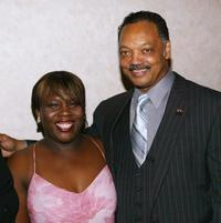 Shoshana Johnson and Jesse Jackson at the Seventh Annual Awards Dinner 63rd birthday celebration.