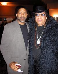 Norm Nixon and Rick James at the musical premiere of