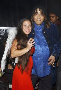 Angela Lorusso and Rick James at the ABC My Wife and Kids' Party.
