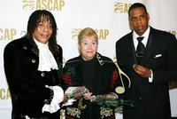 Rick James, Marilyn Bergman and Jay-Z at the ASCAP's 17th Annual Rhythm & Soul Music Awards.