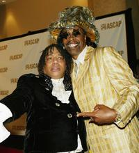 Rick James and Bootsy Collins at the ASCAP's 17th Annual Rhythm & Soul Music Awards.