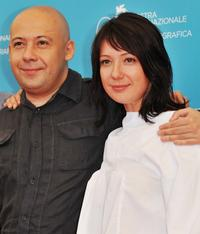 Aleksei German Ml and Chulpan Khamatova at the photocall of