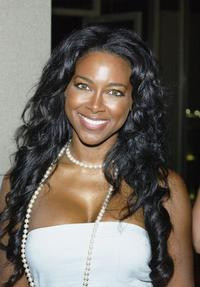 Kenya Moore at the Deborah and Carlos Santana Milagro Foundation Benefit fashion show and silent auction.