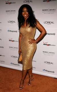 Kenya Moore at the Clive Davis pre-Grammy party.