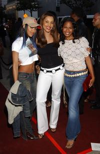 Megan Good, Sandra Prosper and Robinne Lee at the premiere of