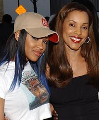 Megan Good and Sandra Prosper at the premiere of