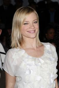 Amy Smart at the Rebecca Taylor Fall 2008 fashion show during the Mercedes-Benz Fashion Week Fall 2008.
