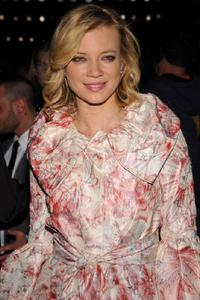Amy Smart at the Monique Lhuillier Fall 2008 fashion show during the Mercedes-Benz Fashion Week Fall 2008.