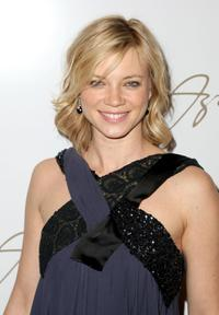 Amy Smart at the Max Azria 2008 fashion show during the Mercedes-Benz Fashion Week Fall 2008.