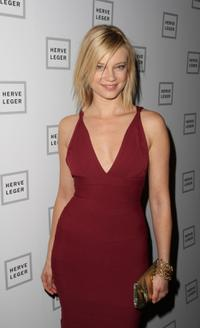 Amy Smart at the Herve Leger By Max Azria Fall 2008 fashion show during the Mercedes-Benz Fashion Week Fall 2008.