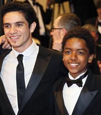 Vinicius de Oliveira and Kaique de Jesus Santos at the screening of