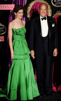 Annette de la Renta and Oscar de la Renta at the Telva Fashion Awards 2008.