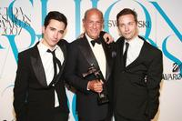 Jack McCollough, Oscar de la Renta and Lazaro Hernandez at the 25th Anniversary of Annual CFDA Fashion Awards.