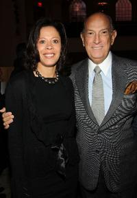 Michelle Paige Paterson and Oscar de la Renta at the Oscar de la Renta Pre-Fall 2009 fashion show.