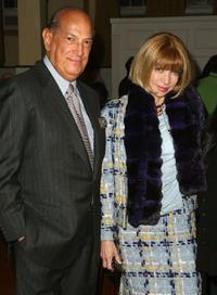 Oscar de la Renta and Anna Wintour at the Mercedes-Benz Fashion Week.