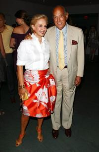 Carolina Herrera and Oscar de la Renta at the after party of the New York special screening of