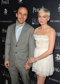 Derek Cianfrance and Michelle Williams at the screening of