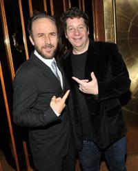 Derek Cianfrance and Jeffrey Ross at the New York premiere of