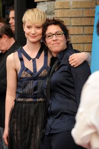 Mia Wasikowska and Lisa Cholodenko at the premiere of the