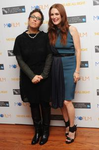Lisa Cholodenko and Julianne Moore at the premiere of