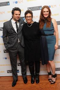 Mark Ruffalo, Lisa Cholodenko and Julianne Moore at the premiere of
