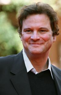 Colin Firth arrives before the screening of